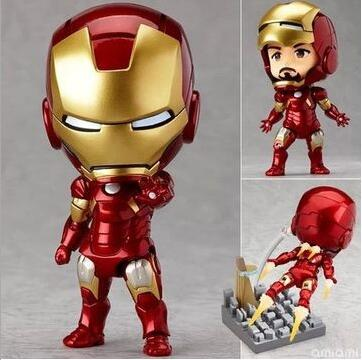 Iron Man Nendoroid movie cartoon Anime Action Figure PVC Collection Model toys brinquedos for christmas gift With retail box