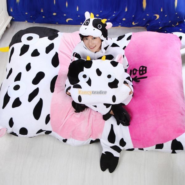 Fancytrader   200cm X 150cm Huge Lovely Milk Cow Double Bed Carpet Tatami Mattess Sofa,FT50332 (5)