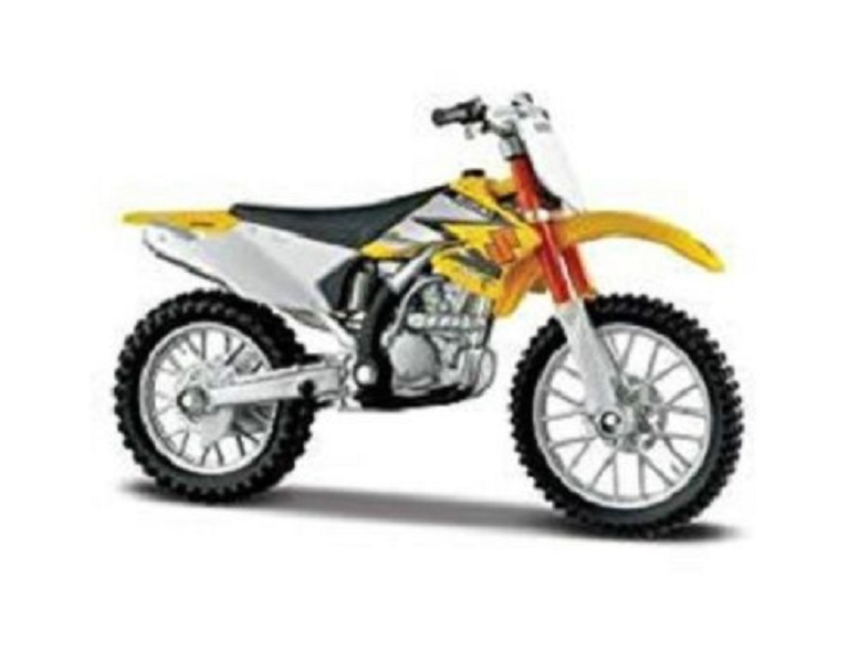 MAISTO 1:18 SUZUKI RM Z250 MOTORCYCLE BIKE DIECAST MODEL TOY NEW IN BOX FREE SHIPPING