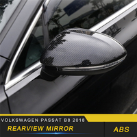For Volkswagen Passat B8 2018 Car Styling Rearview Mirror Cover Protector Trim Frame Sticker Exterior Accessories