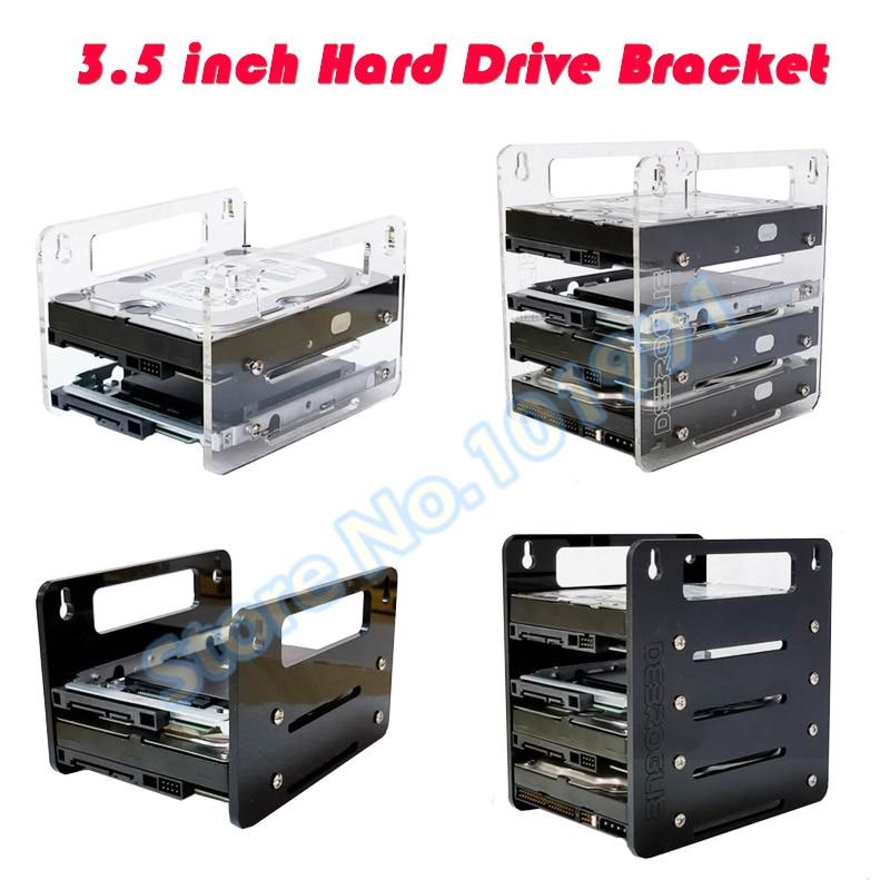 DEBROGLIE  YJ-Y2G/Y4G Hanging Type Acrylic Hard Disk Bracket  Hard-disk Cartridge 3.5