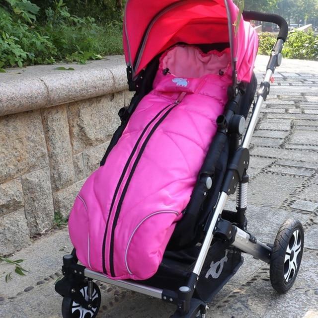Winter Baby Sleeping Bag Stroller Sleeping Bags Sleepsacks Baby Cart Basket Infant Fleabag Cotton Thick Swaddle Bag