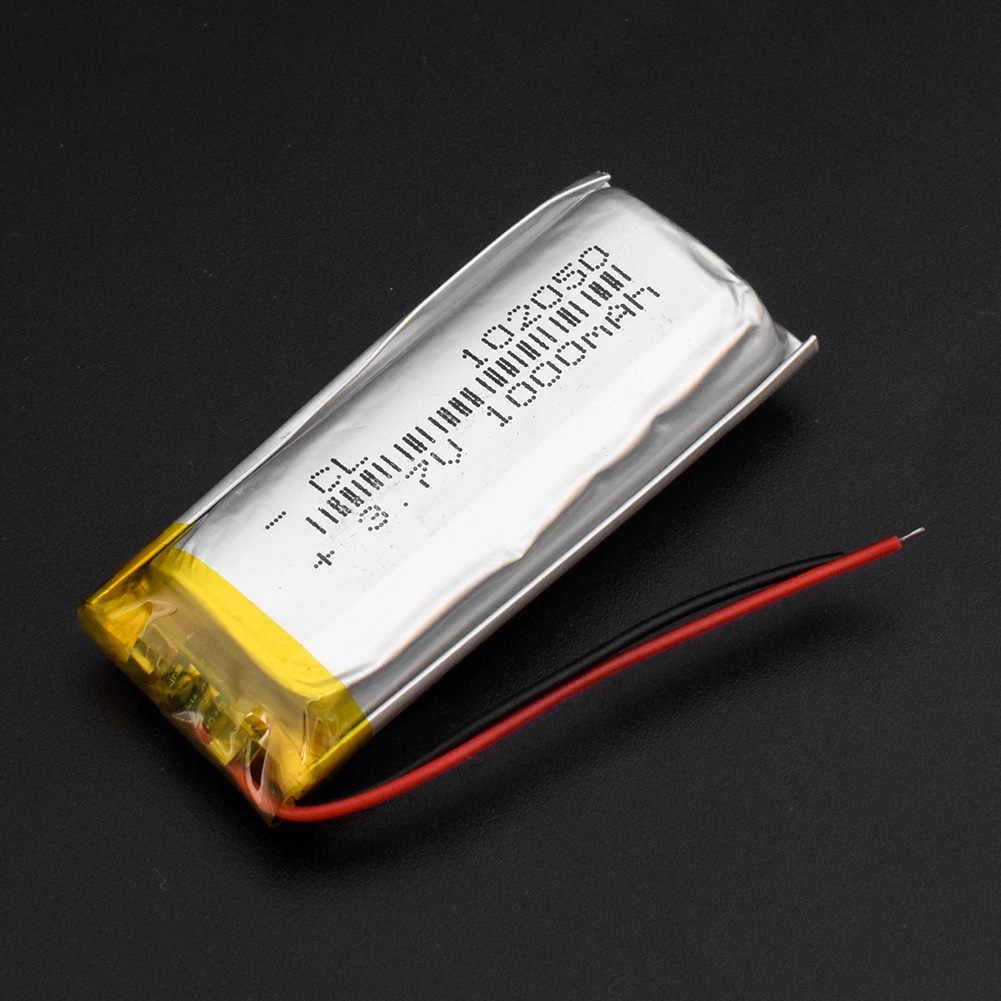 1000 мАч литий-полимерный lipo Перезаряжаемые аккумуляторной батареи 3,7 В 102050 с PCB для MP3 MP4 gps Оборудование для psp PDA BT наушники с Bluetooth Динамик
