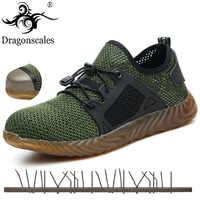 Livraison directe léger Indestructible Ryder chaussures hommes femmes acier orteil chaussures de sécurité anti-crevaison travail Sneakers respirant bottes
