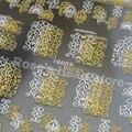 2 folhas mista desing 3D hot stamping ouro prata decalques etiqueta Da Arte Do Prego Dicas de beleza DIY Acessórios Unhas instrumentos de manicure TB009
