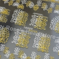 2 sheets mixed desing 3D hot stamping gold silver decals Sticker Nail Art Tips DIY beauty Nails Accessories manicure tools TB009