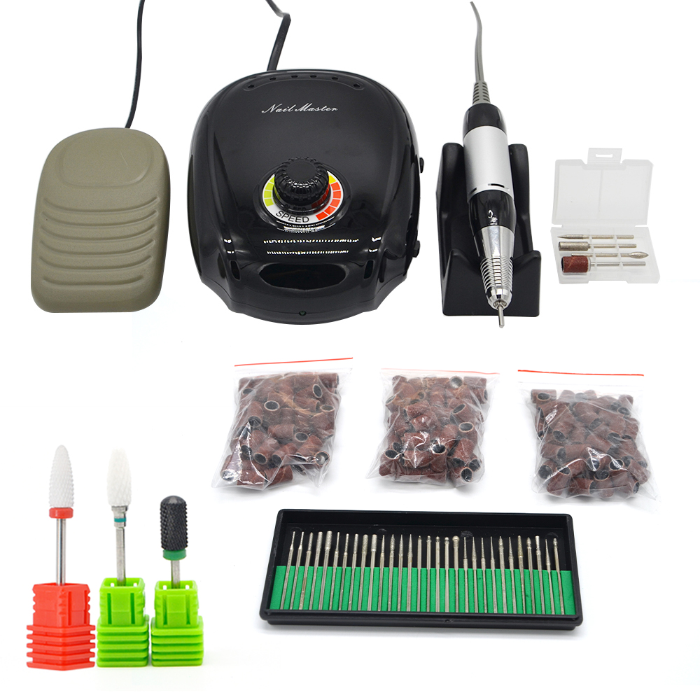 20W Electric Nail Drill Machine 35000RPM Milling Pen Manicure Ceramic cutting Bits Pedicure Nail Tools for Nail Toe buffing care ceramic cutting tools