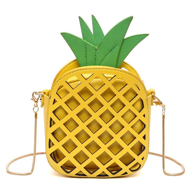5 Pcs of (Women s Fashion Pineapple Shape Lovely Handbags Cute Shoulder Bag for Women)