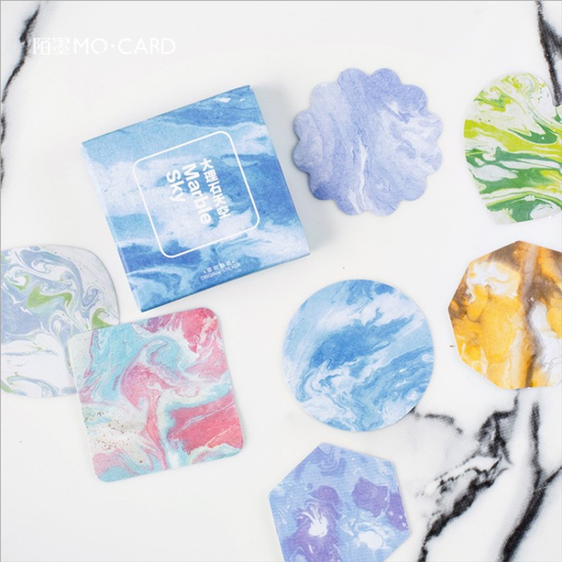 45 Pcs/pack Corful Marble Label Stickers Decorative Stationery Stickers Scrapbooking DIY Diary Album Stick Label