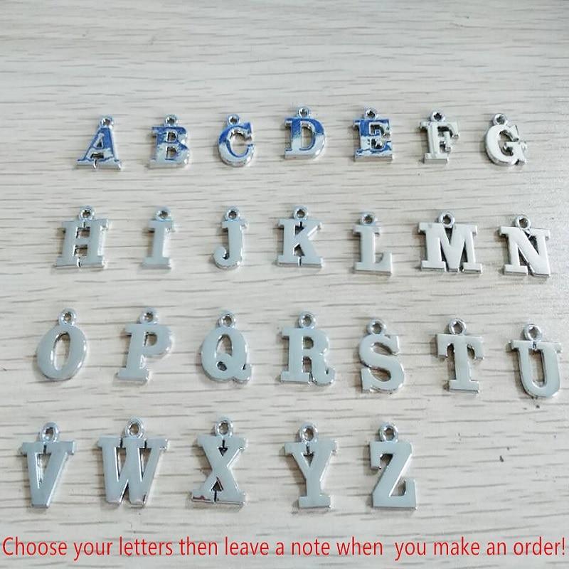 Angelhaken Brief Anhänger 26 Alphabet Initial Schlüsselbund Weiß - Modeschmuck - Foto 6
