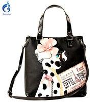 Borsa Bracciali Style Italy Handicraft Art Design Women Shoulder Bag Vintage Handbag Tote Dog Style Borse