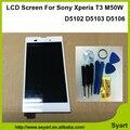 """1 шт. белый Черный жк 5.3 """"полный ЖК-Дисплей + Сенсорный Экран Digitizer Замена Частей Для Sony Xperia T3 M50W D5102 D5103 D5106"""