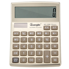 Guangbo Golden Color Electronic Calculators Useful Office Supplies 12 Digit Stationery Big Button Desk Calculadora NC-1259