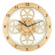 Clock Saat Wood Wall Clock Reloj Duvar Saati Relogio de parede Horloge Murale Reloj de pared Klok orologio da parete Watch Gears