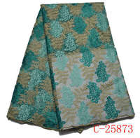 New Design Beautiful French Beaded Lace Fabric Latest African Organza Lace Fabric With High Quality