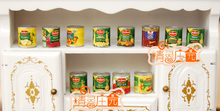 Mini dollhouse Mini furniture model accessories to play the 12 bottles of fruit pear jam canned