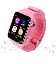 GPS Smart Watch V7K kid waterproof Smart baby watch with camera SOS Call Location Device Tracker Anti-Lost Monitor PK Q90 цена