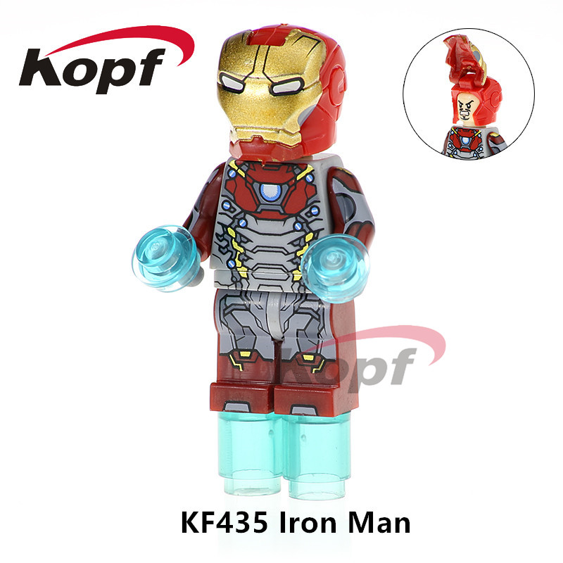 KF435 Super Heroes Iron Man Captain America Ironman Spiderman Thanos Dolls Bricks Building Blocks Model For Children Gift Toys single sale super heroes black widow captain america spiderman lady death bricks model building blocks children toys gift xh 822