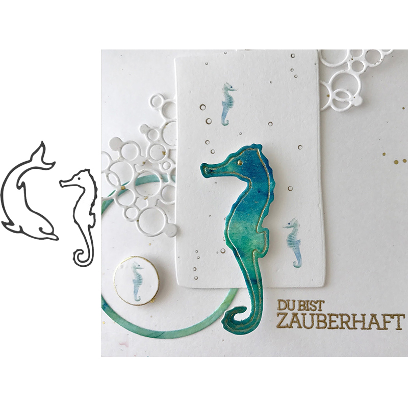 Dolphin And Seahorse Metal Cutting Dies for Scrapbooking and Cards Making Paper Craft New 2019