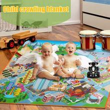 купить Children Kids Baby Crawling Blanket Carpet Rug City Life Learn To Walk Road Traffic Play Mat Home YH-17 по цене 263.33 рублей