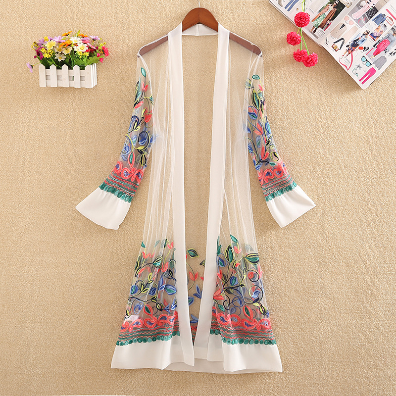 Brave Summer Spring Autumn Streetwear Korean Japan Women Kimono Loose Cardigans Top Shirt Long Blouse Chiffon Windbreaker Retro Print Women's Clothing