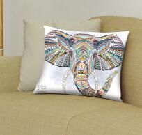 Egyptian cotton  3D Elephant Pattern Cushion Home Decorative 45x45cm 70x70cm