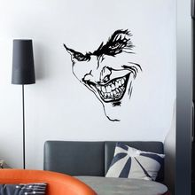 Devil Face Wall Sticker PVC Vinyl Decal Style Home Room Decor Devil Face Look Wall Art Mural Home Decor Poster Wall Decals AY826