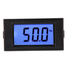 Azul LCD Medidor de Painel Digital de Freqüência Contador Cymometer Medidor de Instrumentos Elétricos