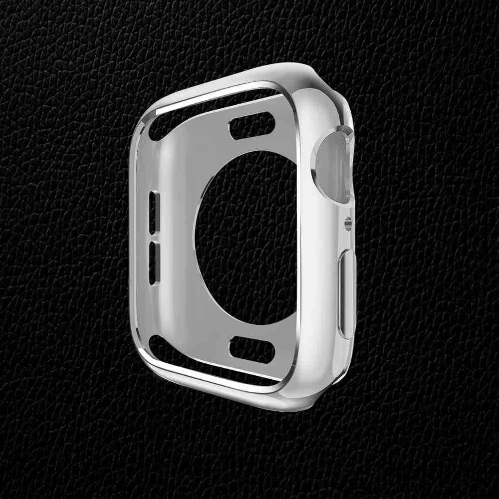 TPU שעון מקרה עבור apple watch מסך מגן 44mm & עבור apple watch כיסוי 42mm פגוש עבור iwatch 4 כיסוי 40mm סדרת 3/2/1 38mm