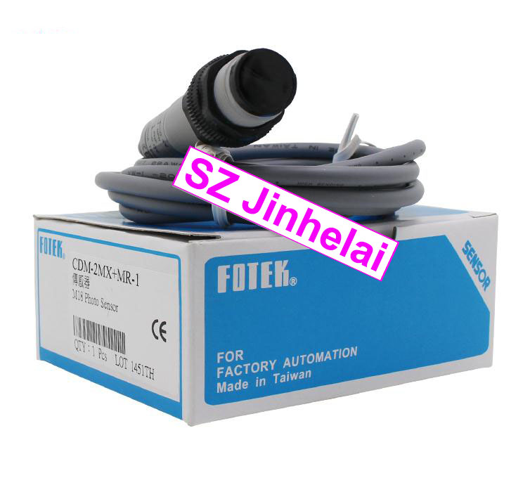 100% New and original FOTEK Photoelectric switch  CDM-2MX+MR-1 new original taiwan s yangming fotek new original photoelectric switch reflector mg 2mx mr 1 sensor