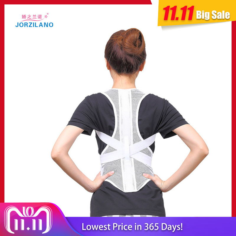 JORZILANO free shipping adjustable therapy back support braces belt band posture shoulder corrector posture corset for women