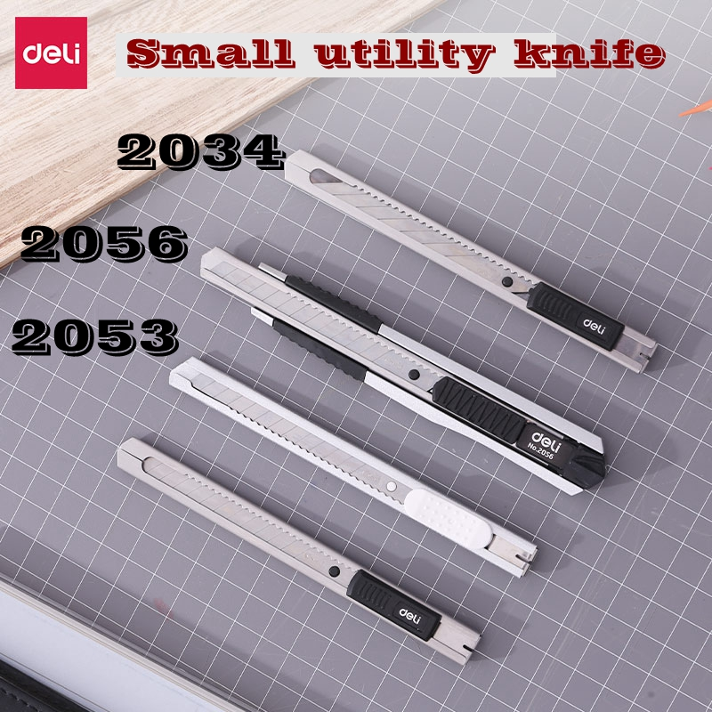 Deli Small Size Utility Knife Office School Student Small Cutter SK5 Material Blade Random Color Delivery
