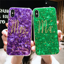 Gold shell style soft cellphone fundas cover for iPhone 8 plus phone cases For Apple X XR XS MAX 7 6 6s