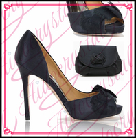 Aidocrystal New Arrival Design Matching Italian Shoe And Bag Set Black Italy Matching Bag And Shoes