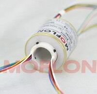 Небольшой внешний Диаметр компактный полые вал проводящих скольжения кольца коллектора кольцо 12 цепи 5A Электрический Slip кольцо наружный Д