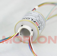 Small Outer Diameter Compact Hollow Shaft Conductive Slip Ring Collector Ring 12 Circuit 5A Electric Slip Ring Outer Diameter 45