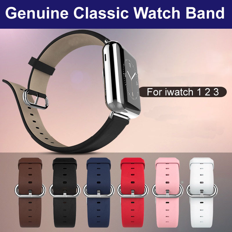 For Apple Watch 4 Bracelet Super Thin Genuine Leather Watch Band For Apple iWatch Series 4