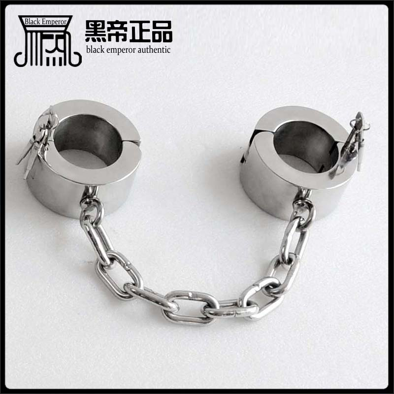 stainless steel super heavy over-weight anklet leg irons 6cm high ankle cuffs shackles sex slave bdsm bondage restraints toys