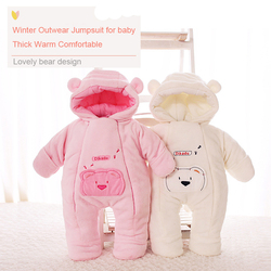 2019 baby clothes winter coverall infantil sweater coral fleece outwear clothes newborn baby  jumpsuits Baby bear snowsuit bebe