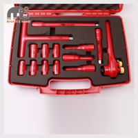 14pc 1000V VDE Insulated Electrician 1/2 Dr. Hex Bits & Socket Set T Handle Driver Hybrid Car Repair Kit