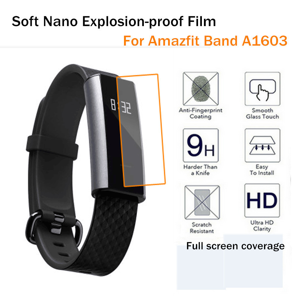 LANDFOX 2PC Clear Screen Protection Full Coverage Screen Protector Film For Xiaomi Amazfit A1603 anti-reflective anti-fingerprin