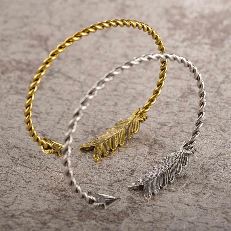 Pulseiras boêmia étnicas charmosas, pulseiras braço flecha manguito indiano joias para mulheres homens presente
