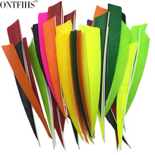 50pcs/lots 5 Shield Hunting Arrow Feathers 10 Colors Turkey Feather Archery Accessories Handcraft Fletching FT40