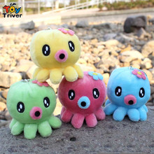 Wholesale 100pcs cartoon octopus doll mobile phone key chain pendant plush toys wedding birthday party cheap gift Triver Toy