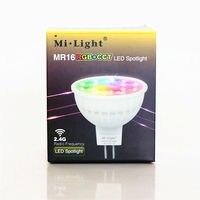 4W RGBWW Mi Light LED Bulb MR16 Lamp Light Dimmable AC DC 12V RGB Warm White