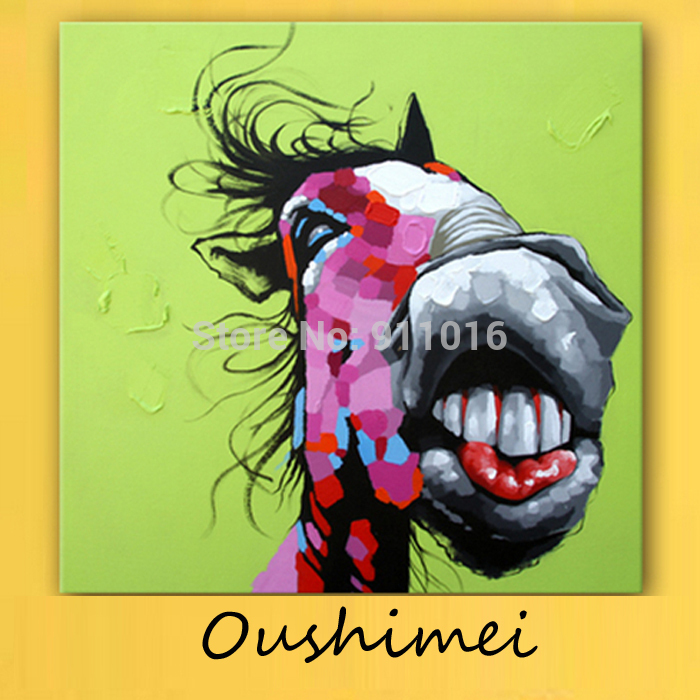 Aliexpress.com : Buy Hand Painted Abstract Animal Paintings For ...