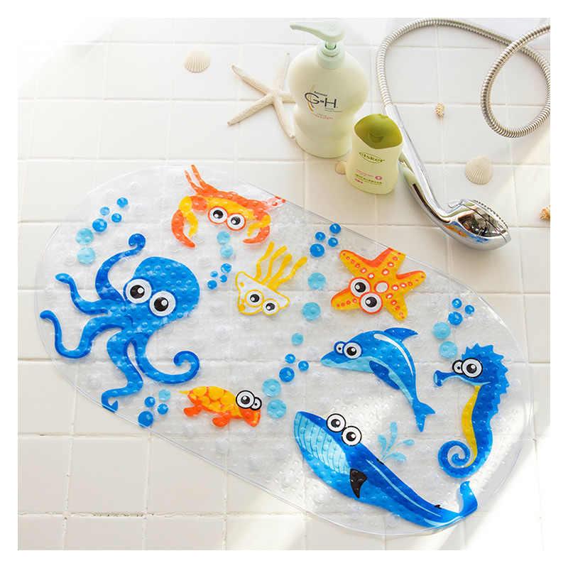 Новые милые 20/Цветные противоскользящие ПВХ коврики для ванной рыбы животных с присоской детский коврик для ванной комнаты Душ коврик для ванной мягкий массажный коврик