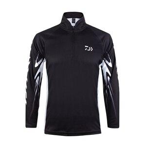 Image 1 - 2020 חדש Daiwa חולצה מקצועי דיג חולצה במבוק סיבי Upf 50 + לנשימה מהיר יבש אנטי Uv חולצה בגדי דיג