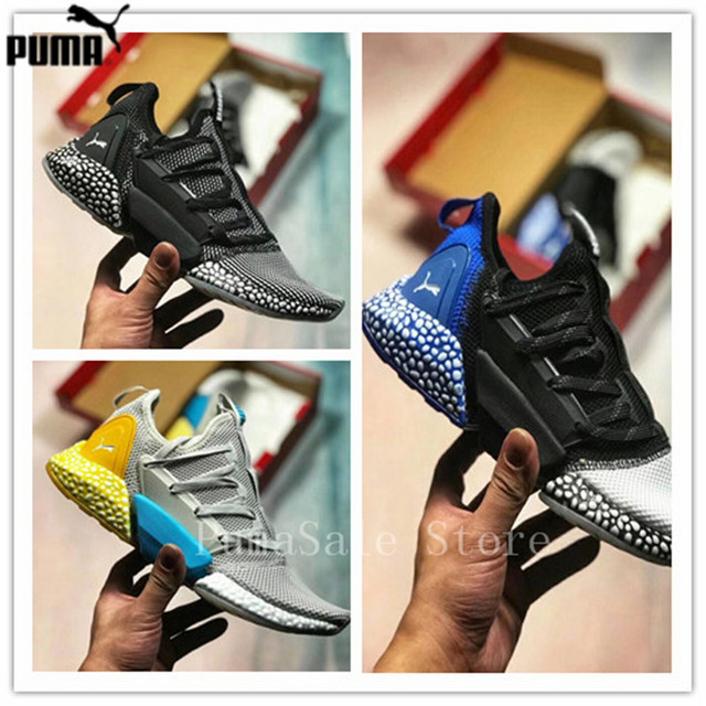 277a64df132c PUMA Hybrid Rocket Runner Shock Absorber Particles Men s Sneakers Sport  Shoes Cushioning Sole Women Badminton Shoes 40-45
