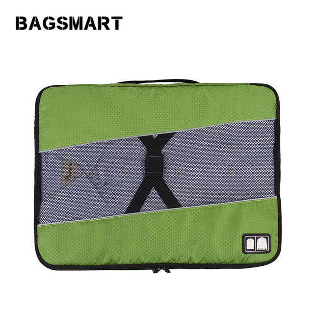 BAGSMART  Men's Nylon Luggage Travel Bags For Shirt Lightweight Packing Organizer Garment Packing Cube Luggage Suitcase